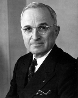 Public Domain portrait of President Truman.