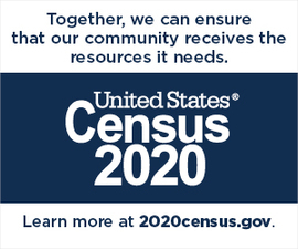 U.S. Census Image: Together, we can ensure that our community receives the resources it needs.